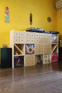 レコード・CD収納棚