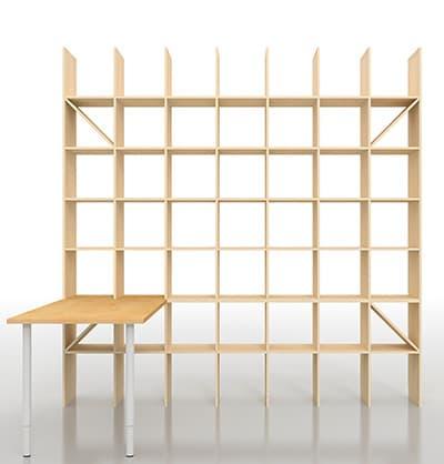 本棚付きデスク 本棚付き机|本棚の通販はマルゲリータ