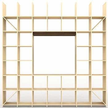 開口部のある本棚 テレビ台 テレビボード 壁面収納 リビングボード