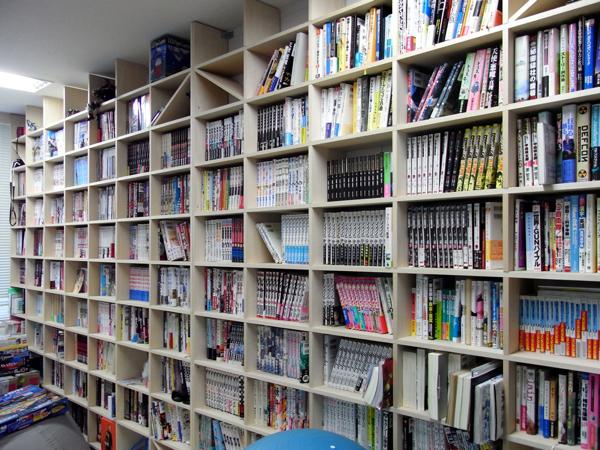 オフィスの壁一面を本棚に 壁一面のコミック本棚 奥行180mm Shelf(no 01)