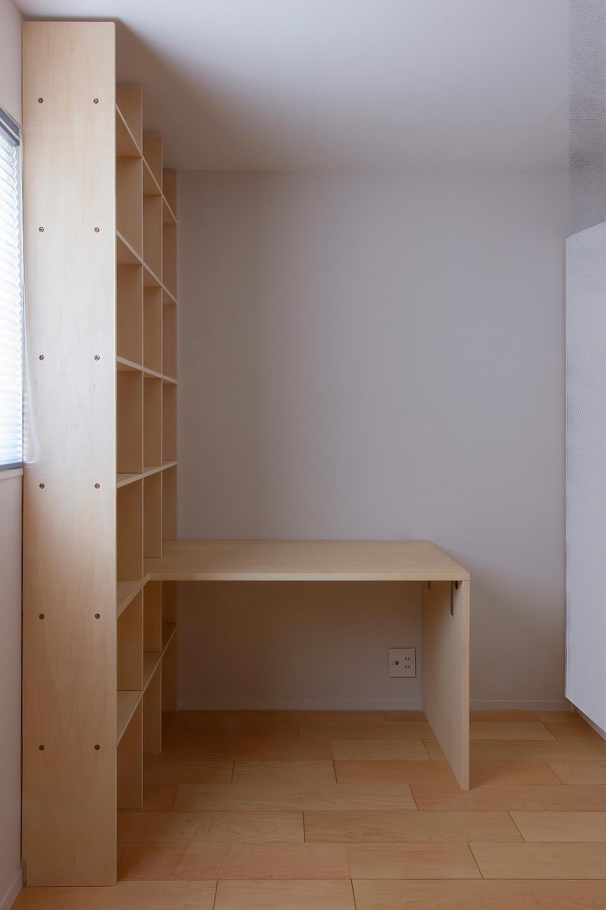 デスク付き本棚