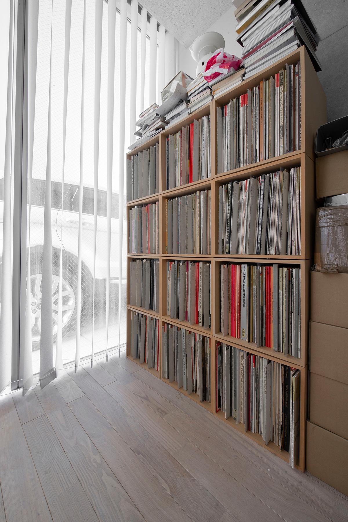レコード棚、レコード収納棚