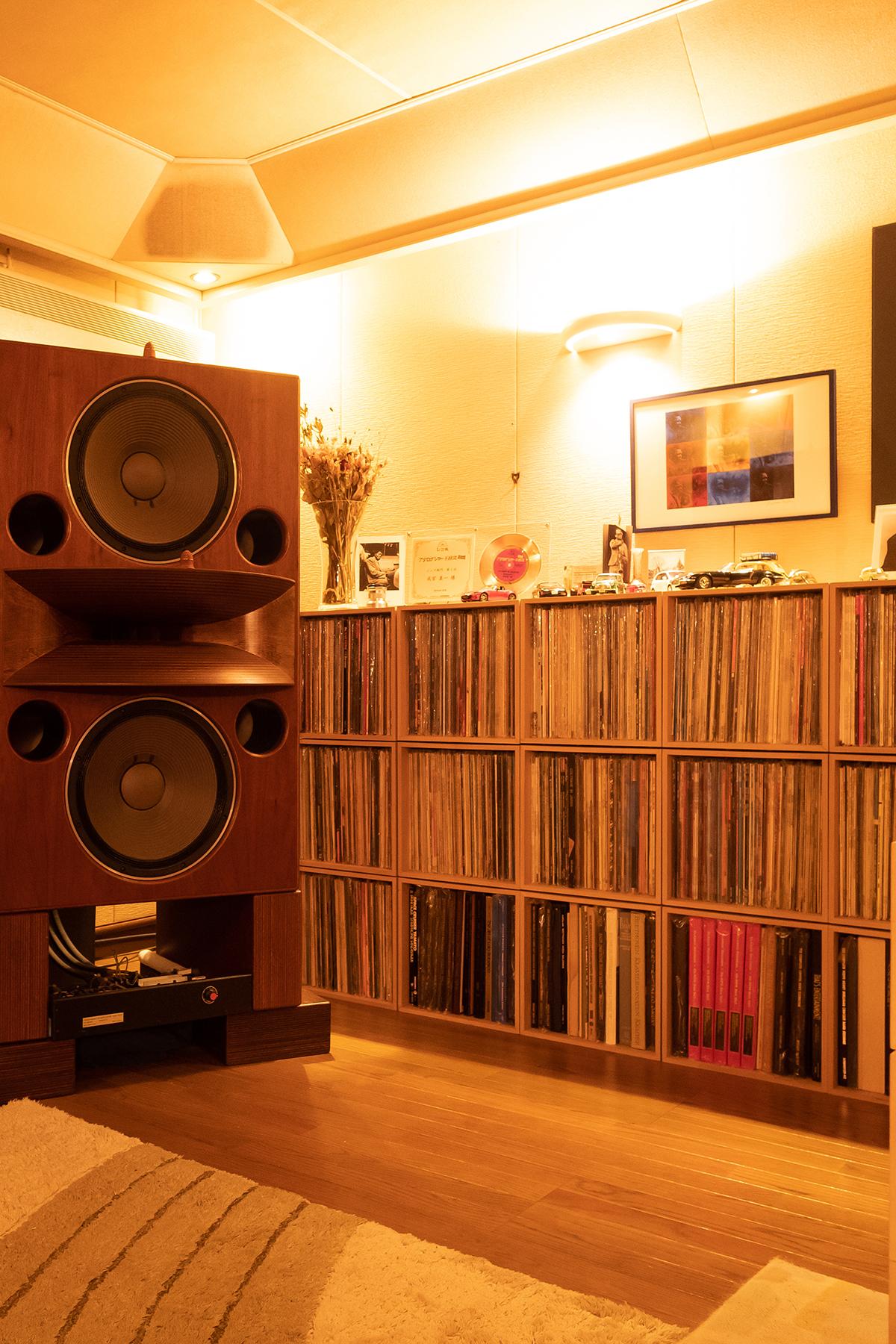 アナログLPレコードのためのオーディオルーム