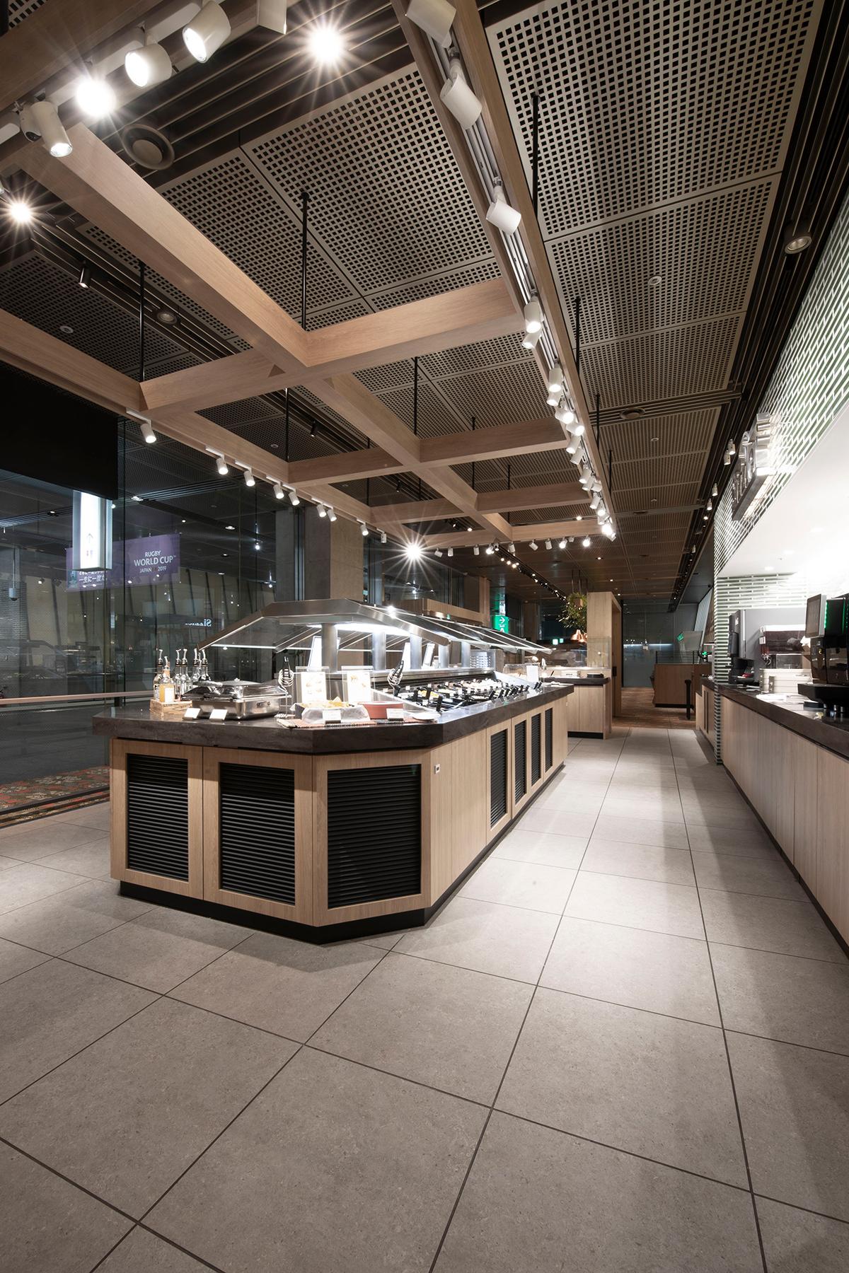 シズラー東京国際フォーラム店のA4書類スタンド