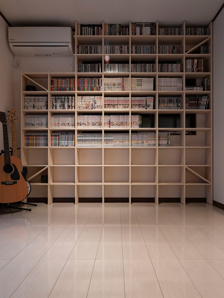 壁一面のCD棚