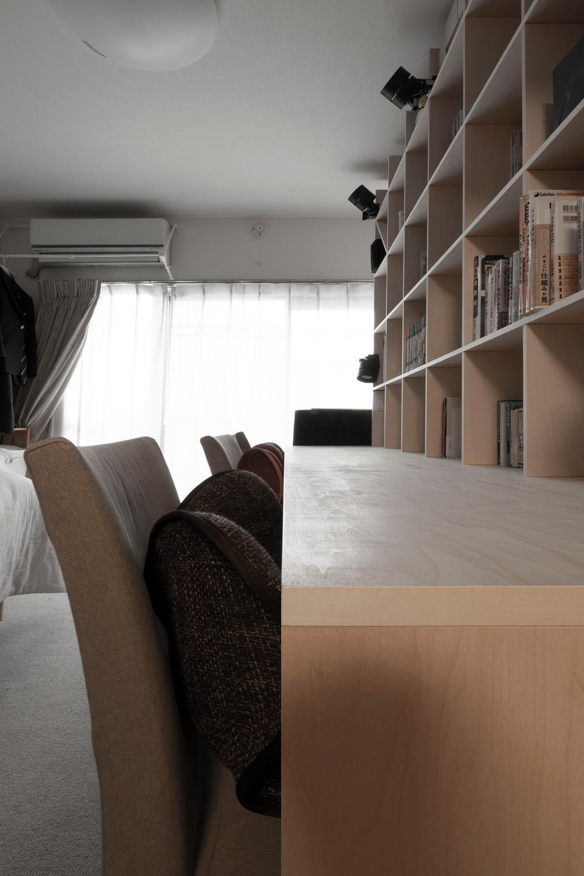 カウンター付き本棚のある子供部屋   カウンター付き本棚/Shelf(No.29)