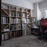 仕事部屋をコンパクトに構成 | 壁一面の本棚 奥行350mm / Shelf (No.94)