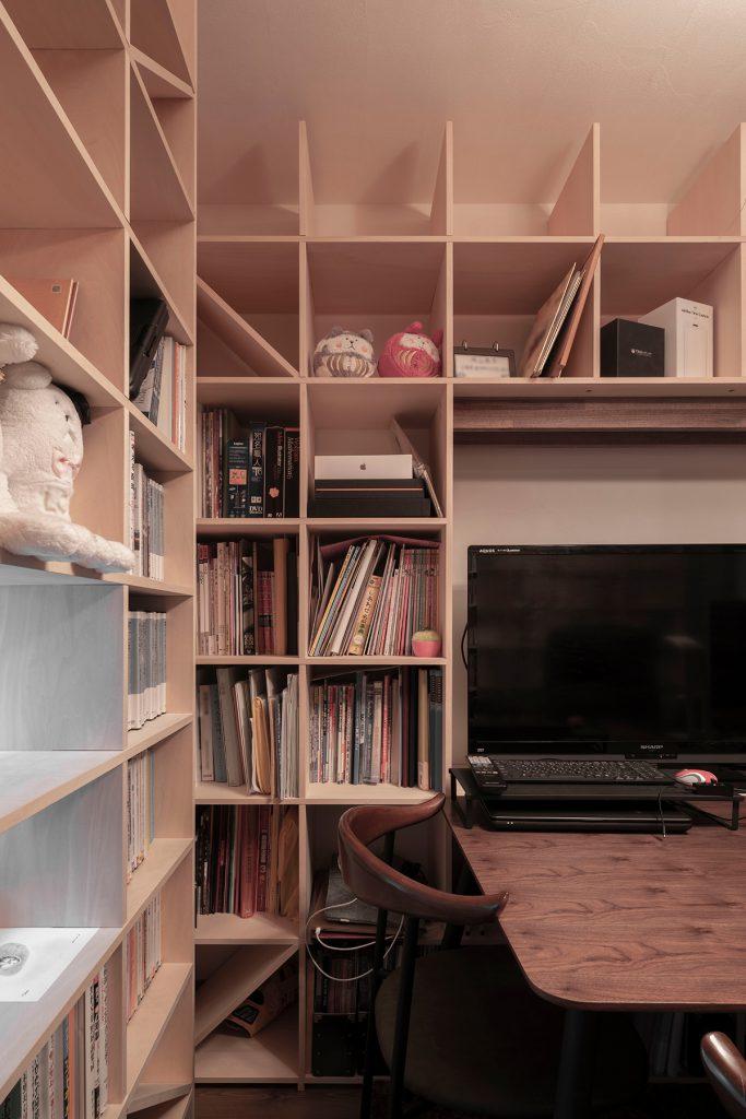 本棚と書斎レイアウト | 開口部のある本棚 / Shelf (No.07)