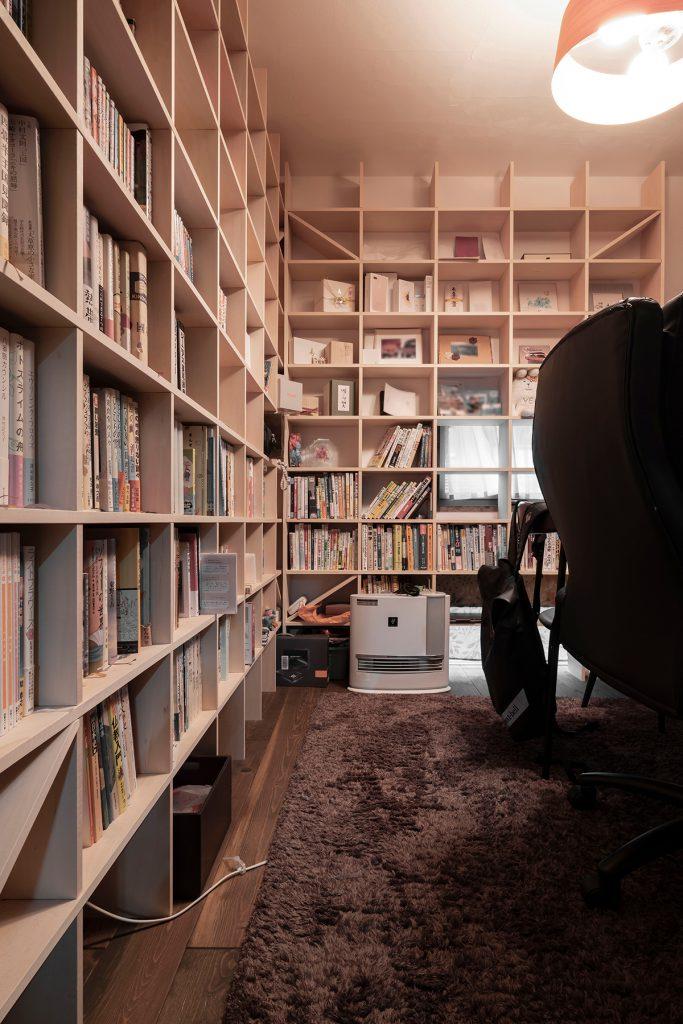 本棚と書斎レイアウト| 開口部のある本棚 / Shelf (No.07)