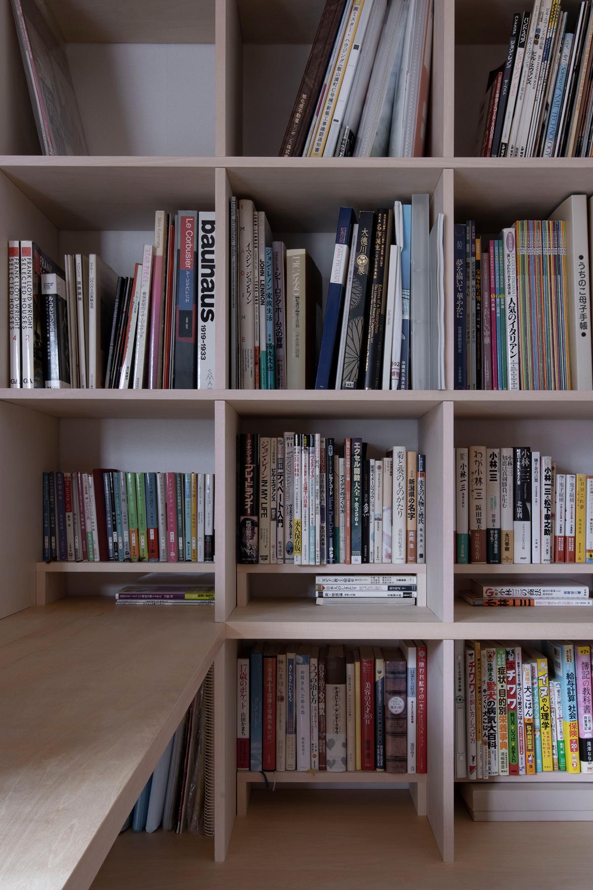 スタンディングデスク+カウンター付き本棚 | スタンディングデスク付き本棚 / Shelf (No.02)