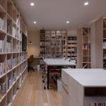 学習室+閲覧室 | 壁一面の本棚 奥行350mm / Shelf (No.95)