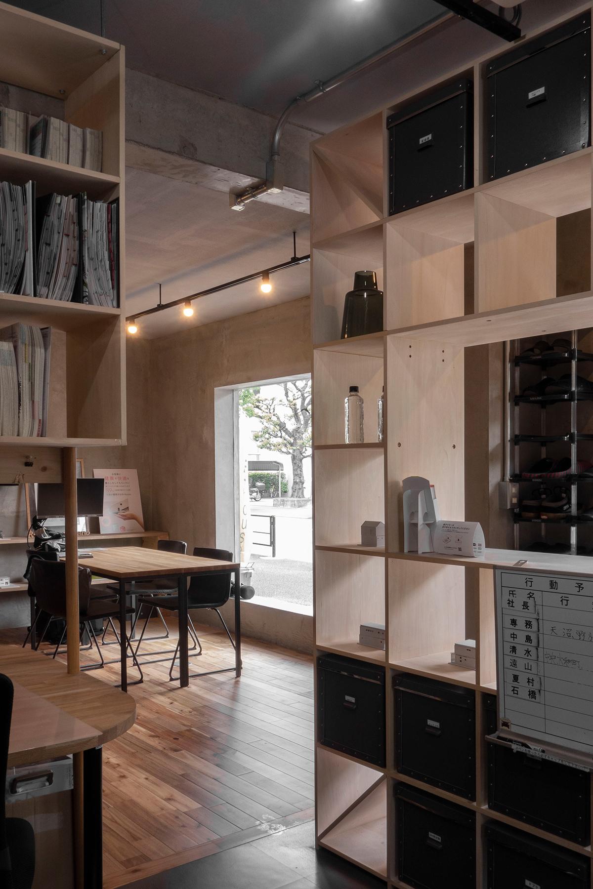 4面が囲まれた執務スペース | 壁一面の本棚 奥行350mm / Shelf (No.101) | マルゲリータ使用例
