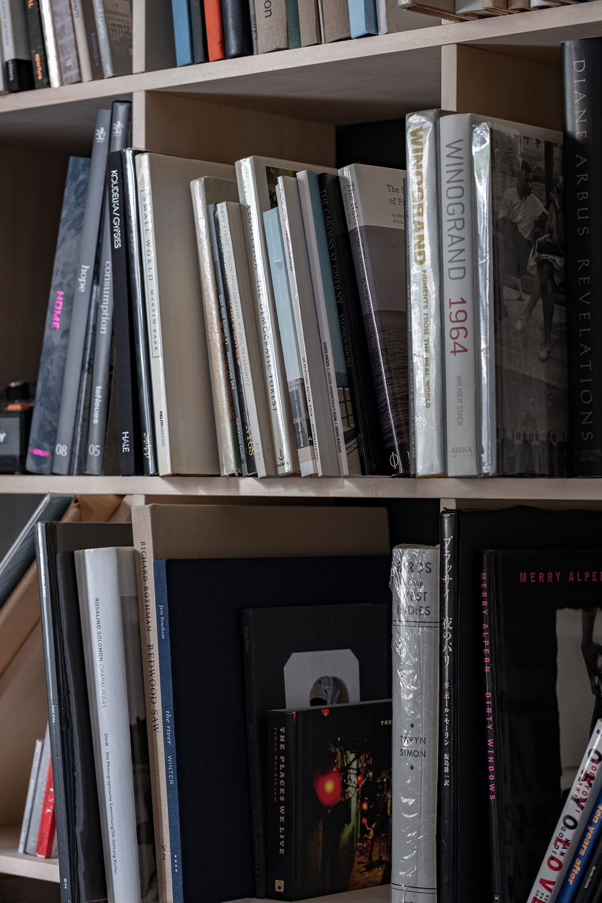 フィルム写真を現像する暗室に   壁一面の本棚 奥行250mm / Shelf (No.73)   マルゲリータ使用例