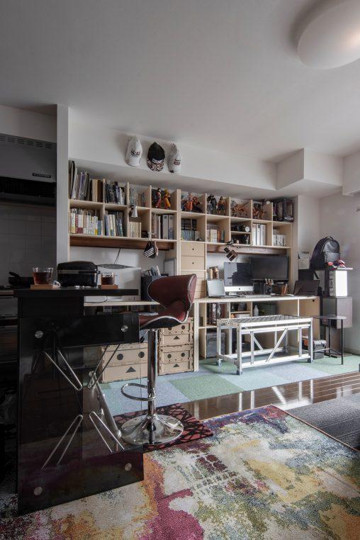 カウンター付き本棚を連結 | カウンター付き本棚 / Shelf (No.33) | マルゲリータ使用例