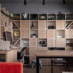 オフィス空間を穏やかに間仕切る | 壁一面の本棚 奥行350mm / Shelf (No.106) | マルゲリータ使用例