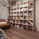 二つの奥行の本棚を組み合わせる | 壁一面の本棚 奥行250mm / Shelf (No.77) | マルゲリータ使用例