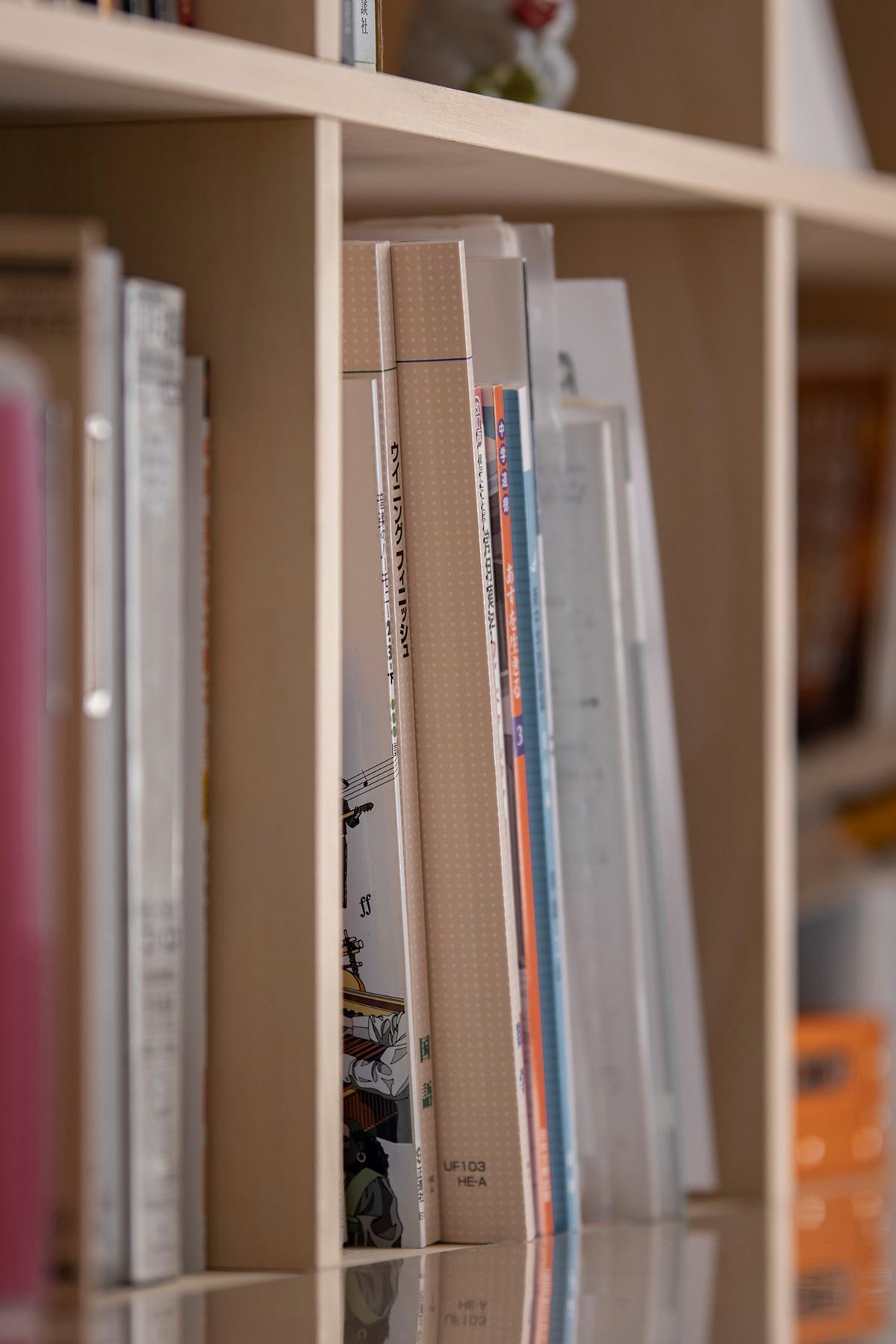L字型にカウンターを連続させる | カウンター付き本棚 / Shelf (No.37) | マルゲリータ使用例
