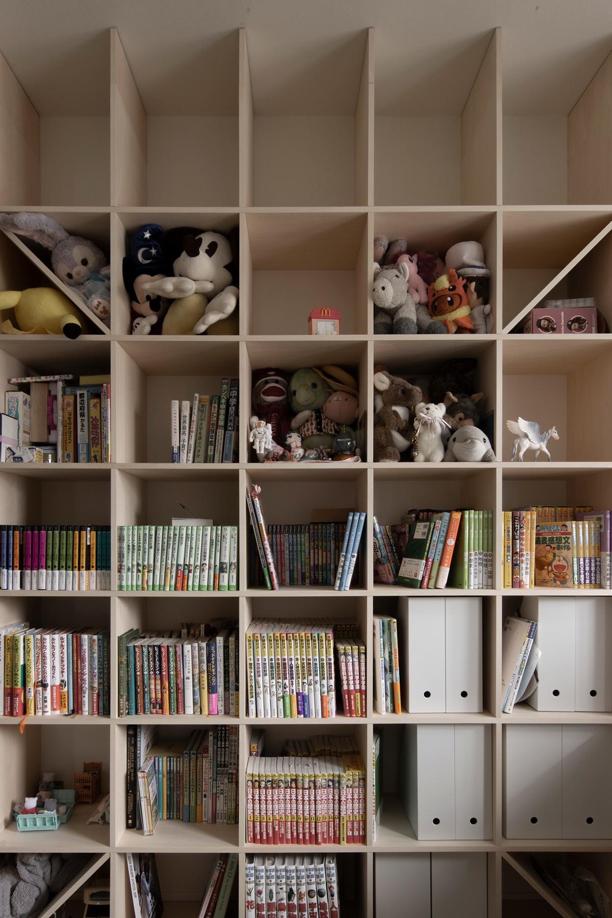 本棚の高さを調節する   壁一面の本棚 奥行350mm / Shelf (No.116)続き   マルゲリータ使用例
