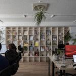 執務室の壁面に | 壁一面の本棚 奥行250mm / Shelf (No.79) | マルゲリータ使用例