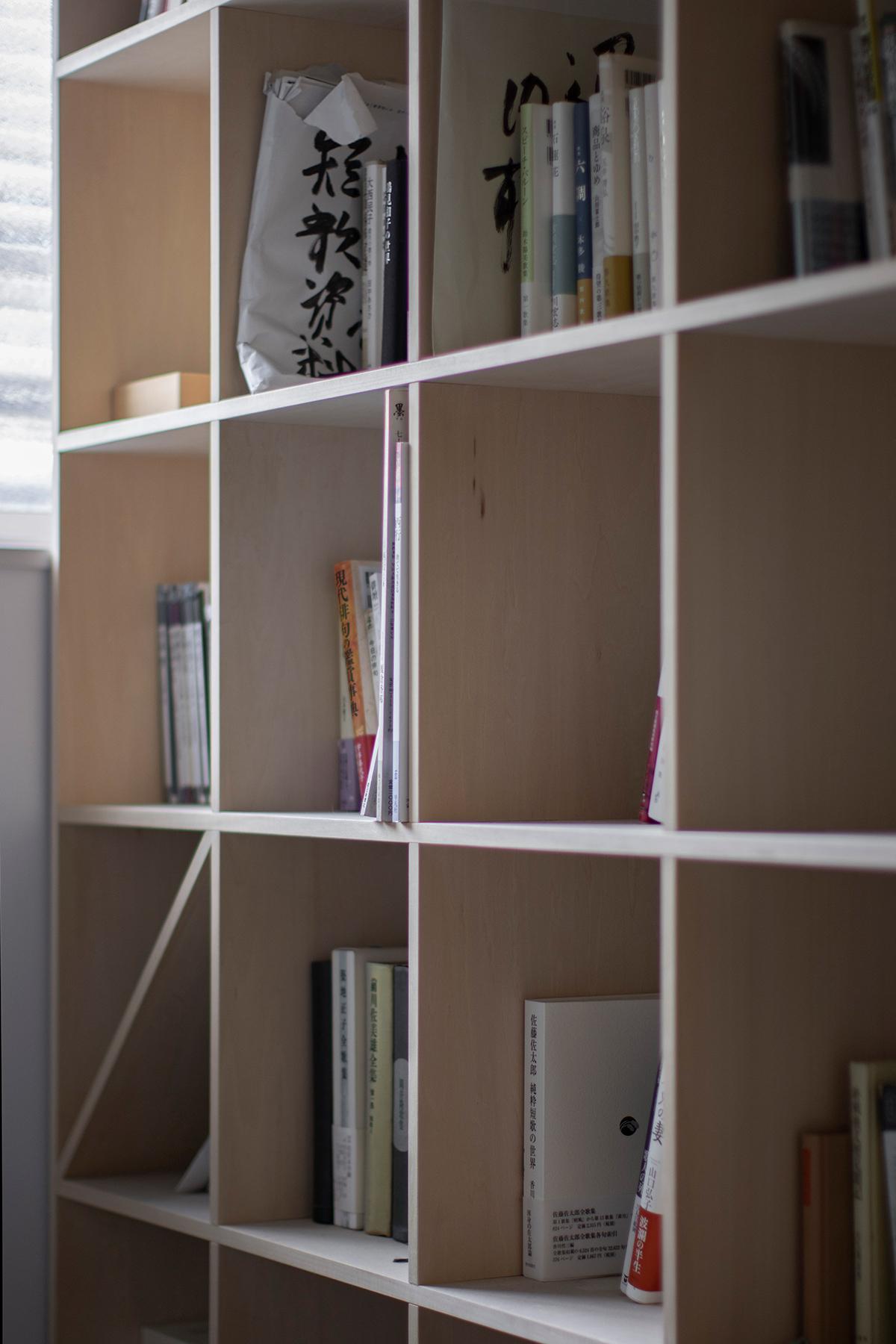 2階の広い廊下に | 壁一面の本棚 奥行250mm / Shelf (No.87) | マルゲリータ使用例 シンプル おしゃれ 部屋 インテリア レイアウト