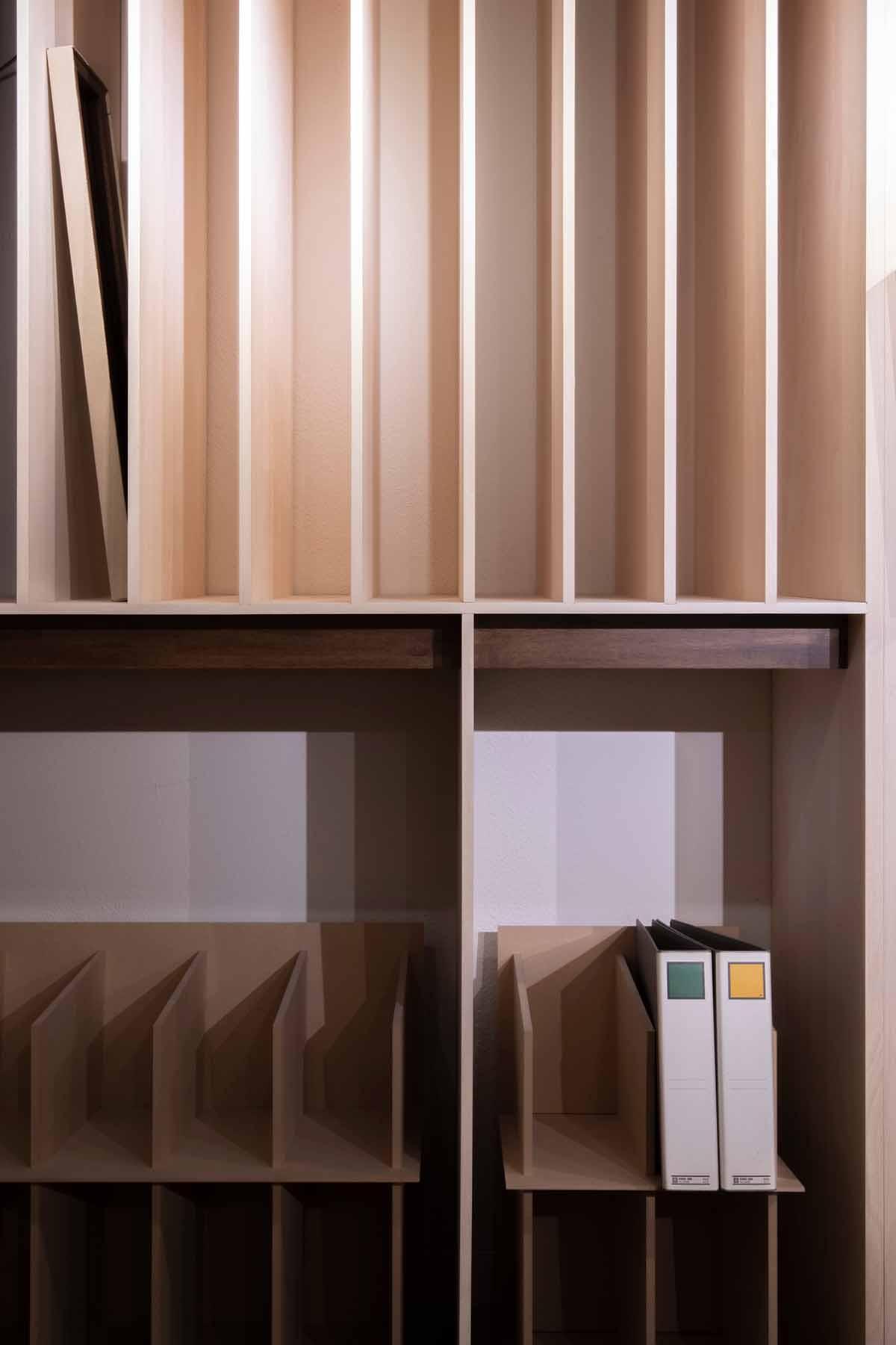 商品展示収納のためのディスプレイ | マルゲリータ 東京ショールーム (No.04) | マルゲリータ使用例
