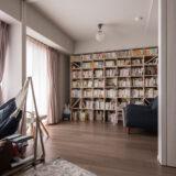 可動間仕切りで仕切れる読書空間 | 壁一面の本棚 奥行250mm / Shelf (No.89) | マルゲリータ使用例