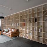 ロフトはしご専門のショールームに | 壁一面の本棚 奥行350mm / Shelf (No.112) | マルゲリータ使用例